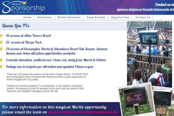 Merlin Entertainments Sponsorship Queue Line Tv