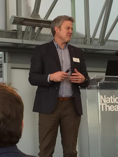 Phil Nelson Managing Director of Surf Snowdonia talking at ThinkTank16 by Green4Solutions