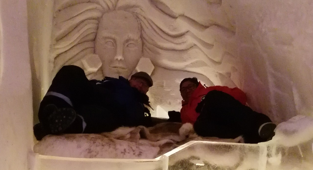 Ray Hole and Nadin Ibrahim at the Ice Hotel Lappset Arctic Inspirations