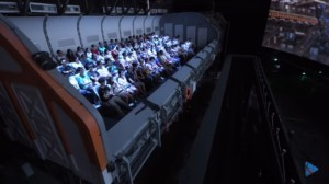 people on a Simtec flying theatre