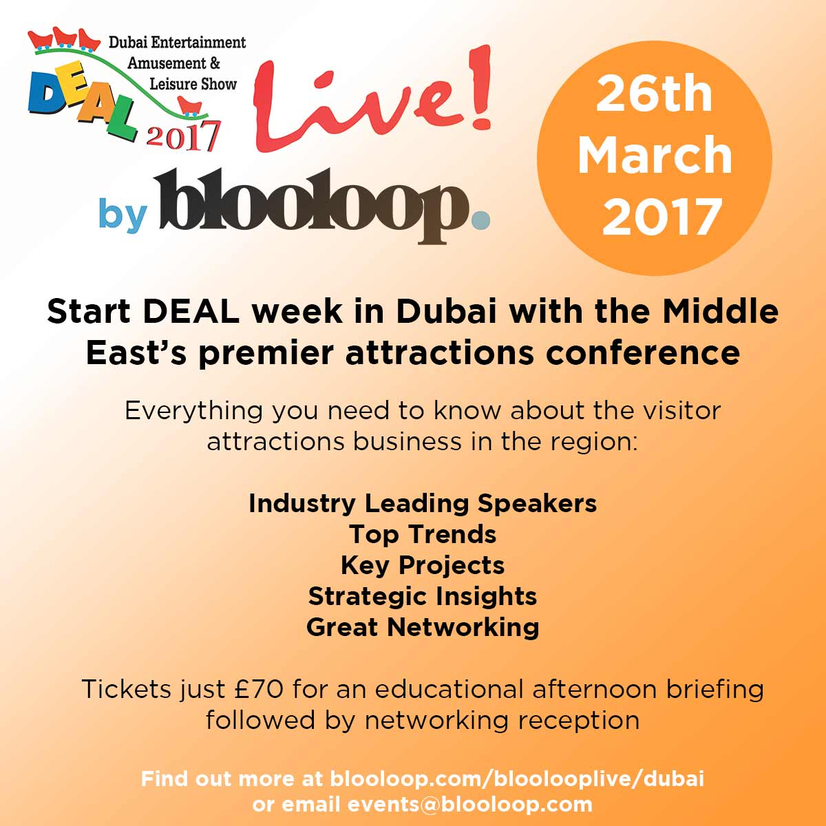 DEAL Live by blooloop 2017