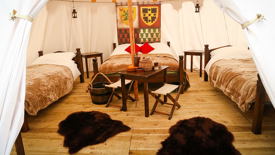 Glamping at Warwick Castle Merlin Entertainments