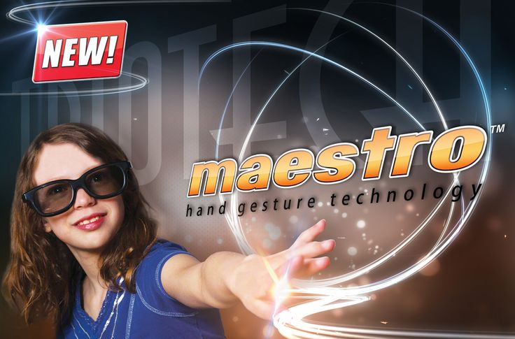 maestro hand gesture technology from triotech Blooloop
