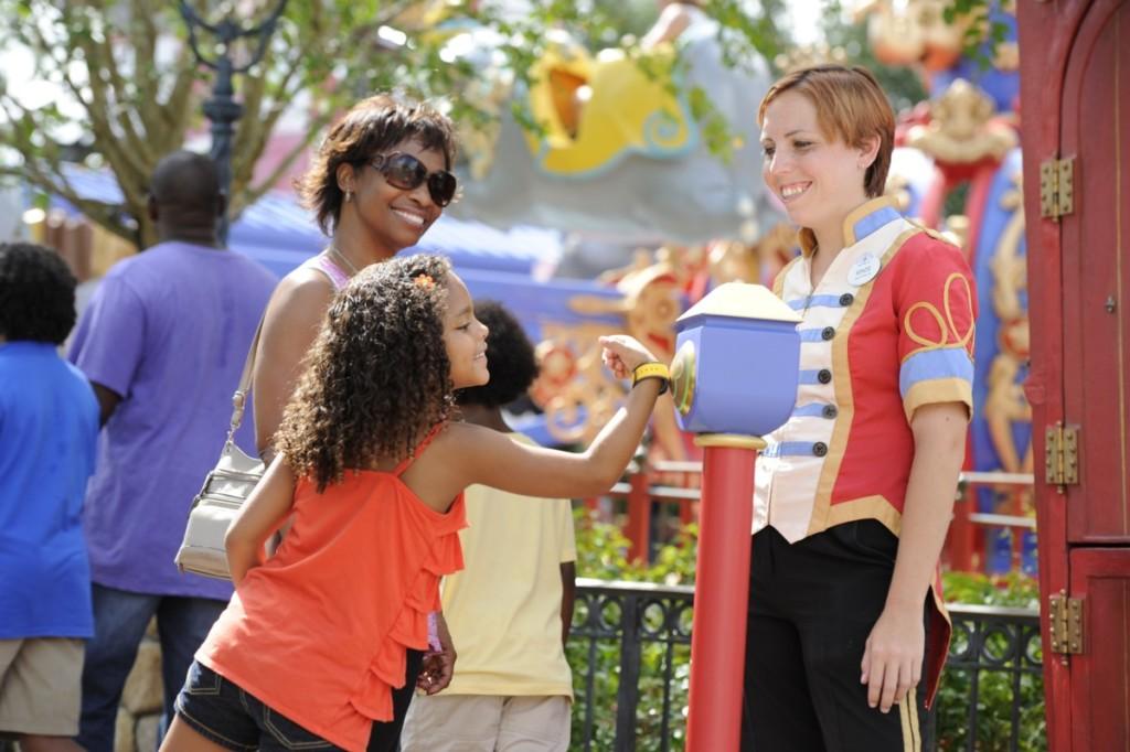 Guests using MagicBands at Walt Disney World Resort