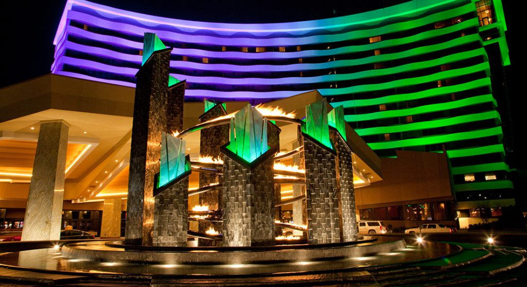 Fire and Water Feature Choctaw Casino Resort Technifex