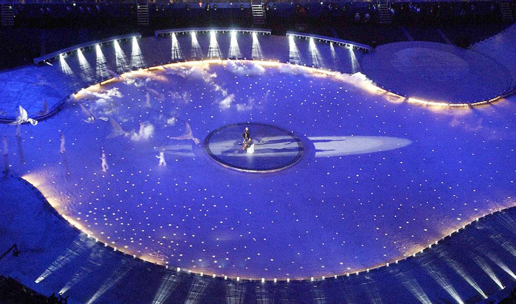 Mechanical Lighting and Atmospheric Effects 2002 Winter Games Technifex