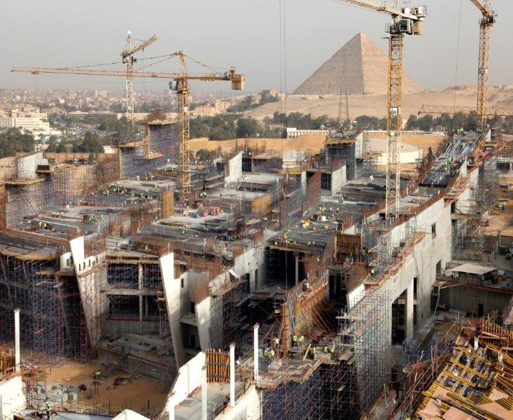 Pyramids on Display at grand Egyptian museum