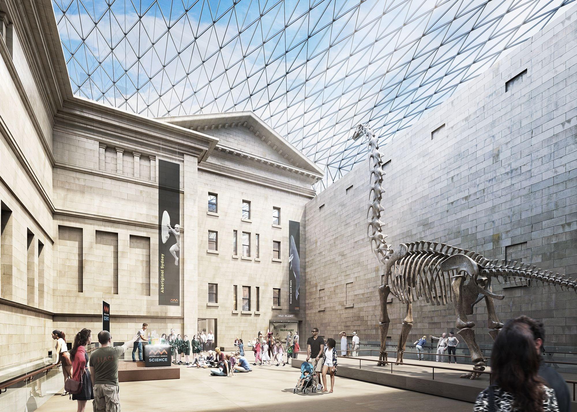 Museum Of Sydney Foyer : Australian museum m masterplan barrabuwari muru blooloop