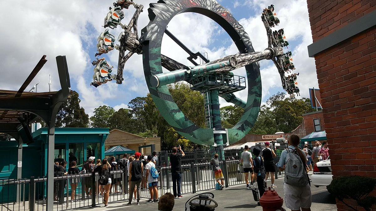 doomsday destroyer intamin Warner Bros Movie World in Australia