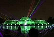Christmas at Kew Lasers Greenhouse