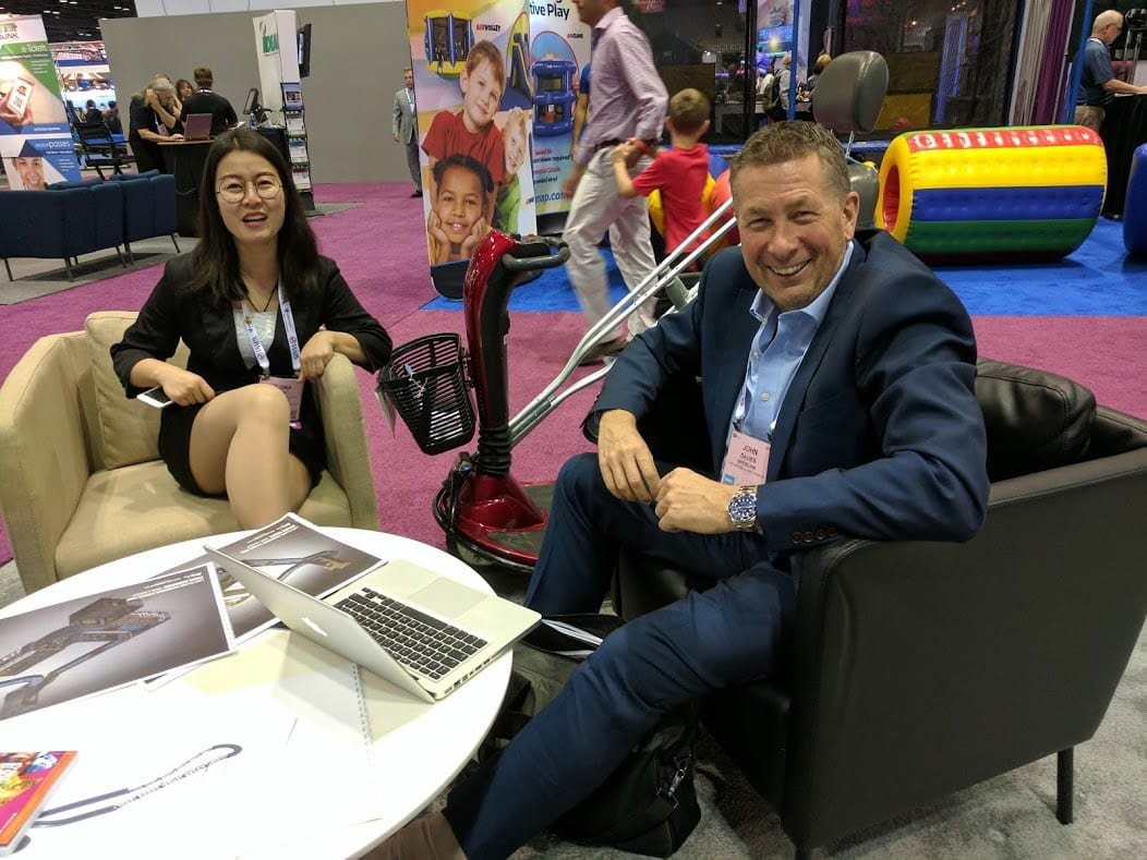 John davies of interlink at iaapa