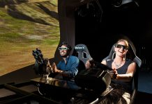 man and woman try next gen vr dark rideholovis