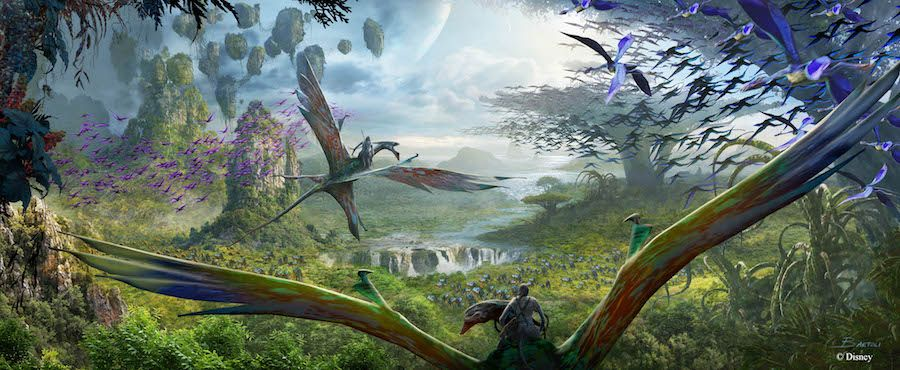 pandora world of avatar ground banshee ride
