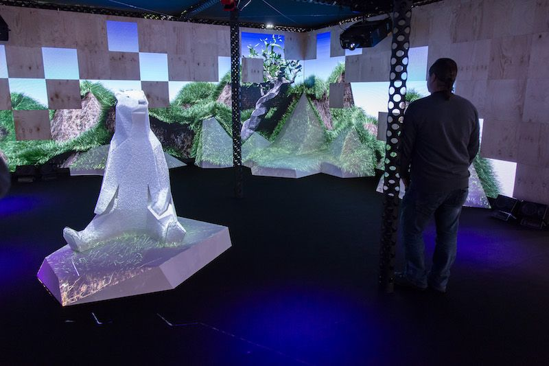 projection mapping at ise