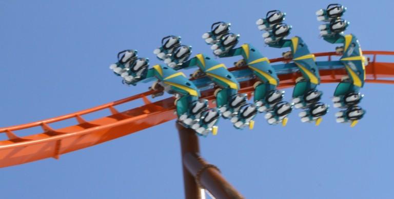 Thunderbird roller coaster at