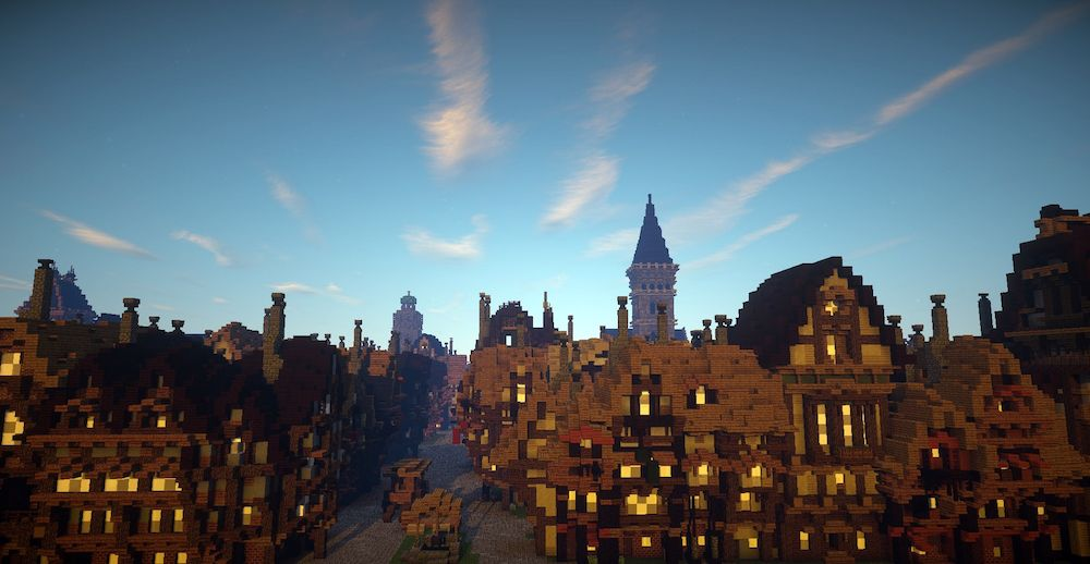 Great Fire 1666 pre-fire minecraft Blooloop