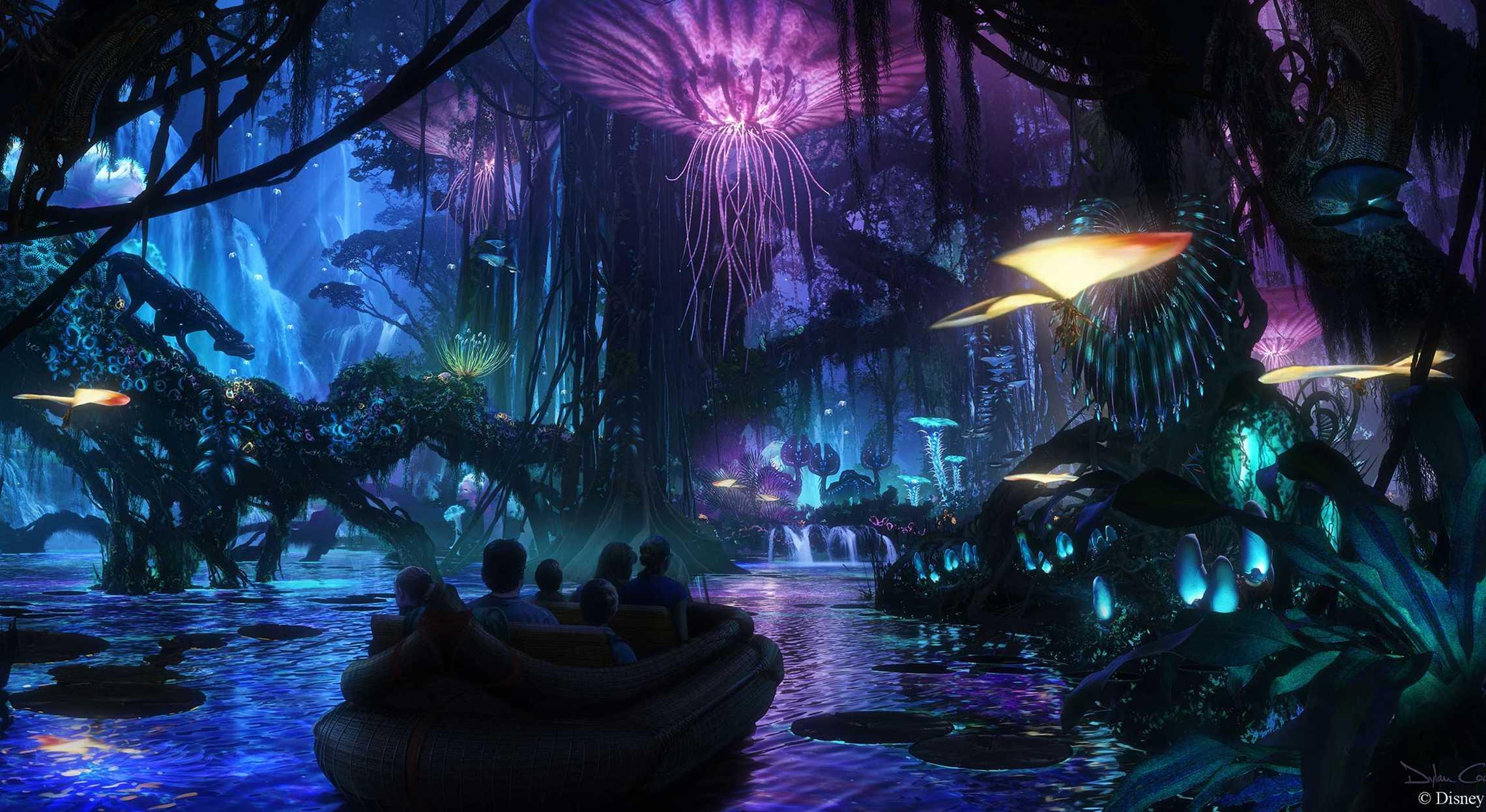 Na'Vi River Journey AVATAR World of Pandora Animal Kingdom
