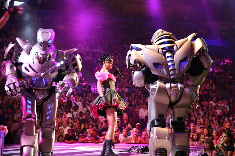 TITAN the Robot with Rihanna Nik on stage