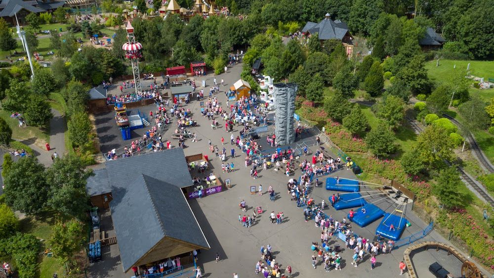 tayto park ireland birds eye view