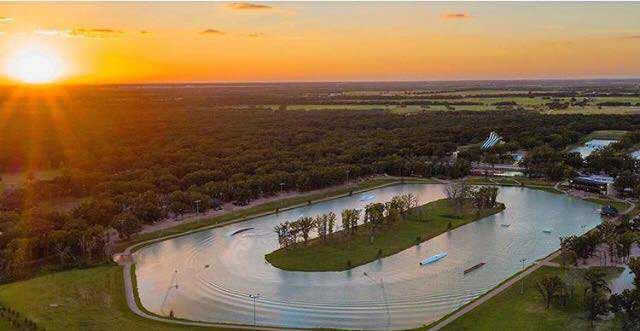 BSR cable park sunset