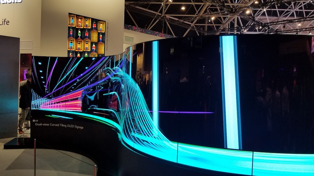 oled screen at ise 2017