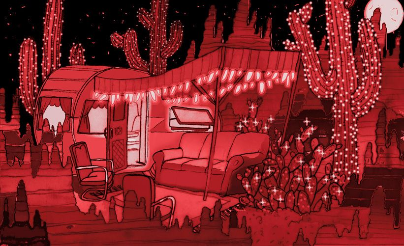meow wolf Desert-Trailer-Cactus-concept-art-by-Caity-Kennedy