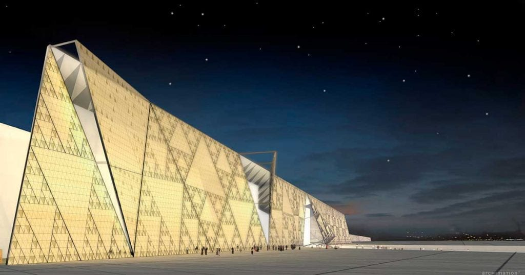 Grand Egyptian Museum outside view