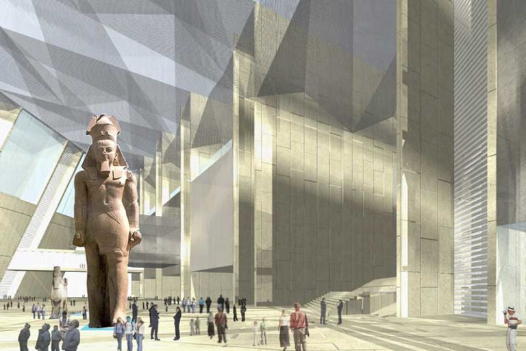 Grand Egyptian Museum statue