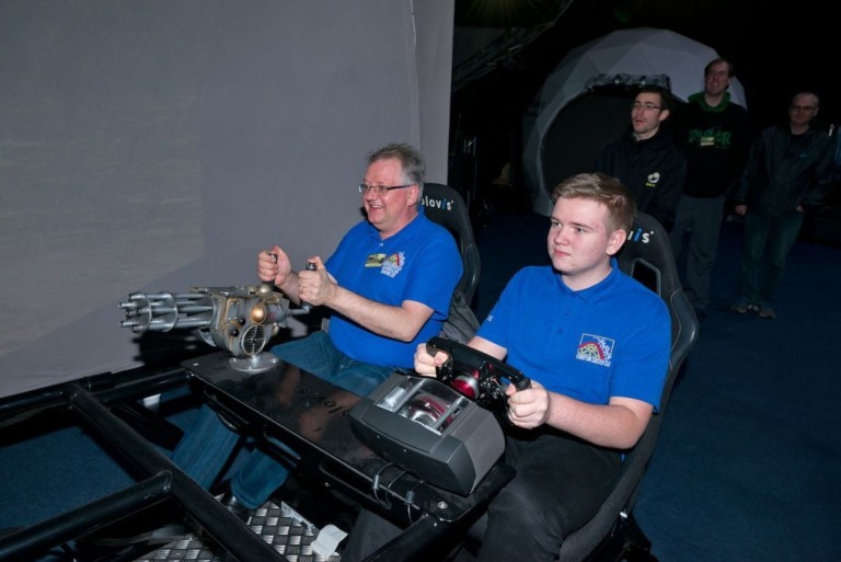 european coaster club members try out holovis experience