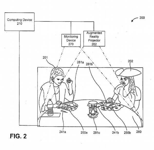 Disney patents augmented reality AR patent application