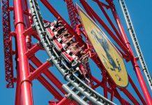 ferrari land red force roller coaster