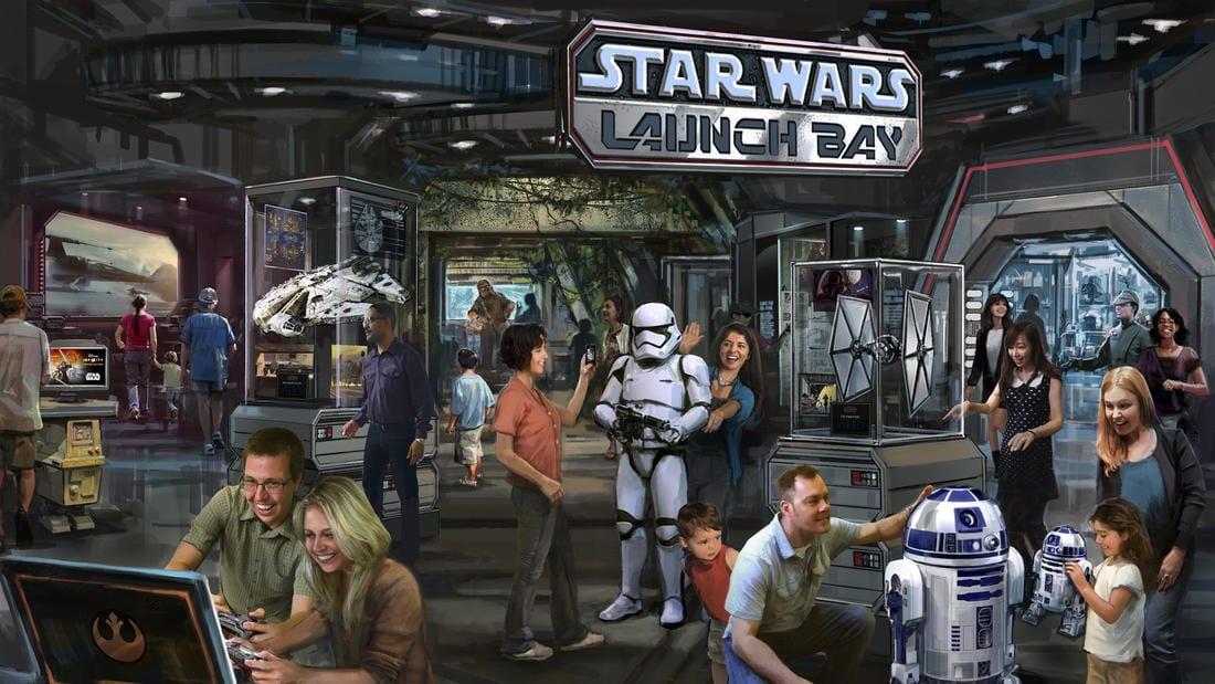 star wars launch bay disney parks