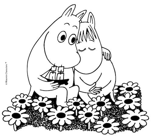 moomin love with flowers