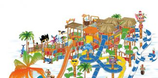Arihant Wipe Out water activity play structure opens at Venture River Water Park