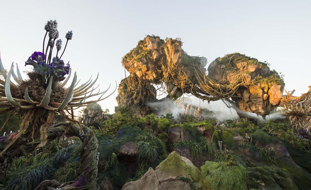 Floating Mountains are among the iconic features at Pandora –The World of Avatar