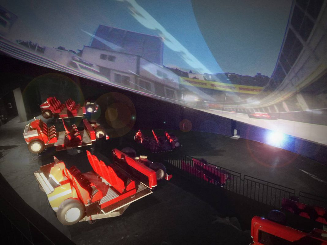 Simworx motion theatre gives Ferrari Land guests a spectacular F1 racing experience