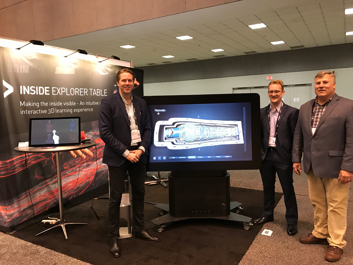 Interspectral staff at AAM 2017 with Inside Explorer