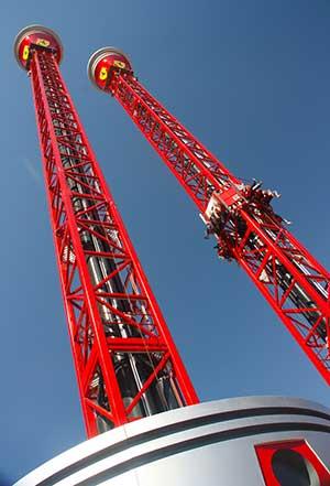 thrill towers ferrari land