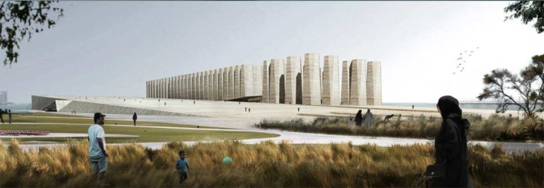 Qatar Art Mill concept design copyright of elemental and malcolm reading consultants