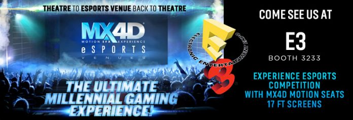 MediaMation unveils the world's first MX4D® Motion & EFX Esports Gaming Theatre at E3 Los Angeles