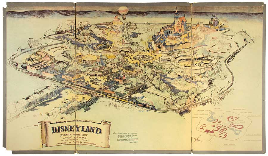 Walt's original concept Disneyland map expected to fetch $1 million at auction, destroying to create