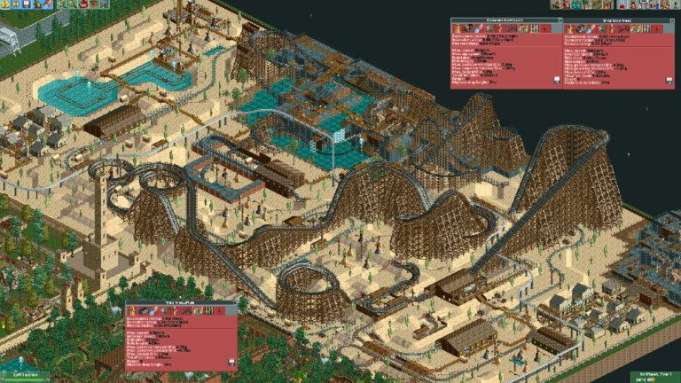 rollercoaster tycoon i-am-prime wooden coaster western