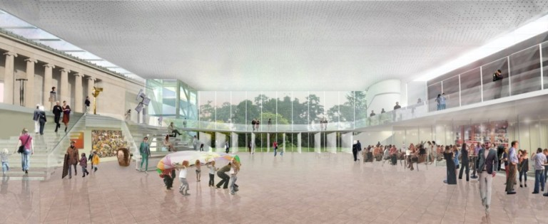 Albright-Knox expansion interior_view_of_public_entry_hall_entering_from_elmwood