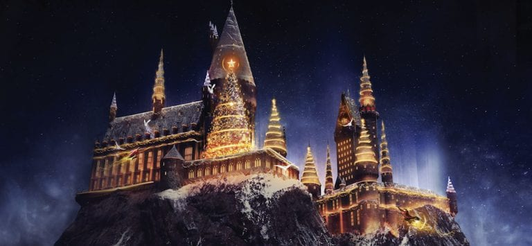 Christmas in The Wizarding World of Harry Potter Universal Studios Hollywood