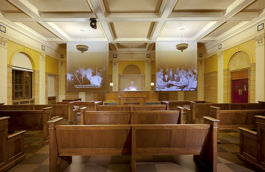 courtroom at the mob museum