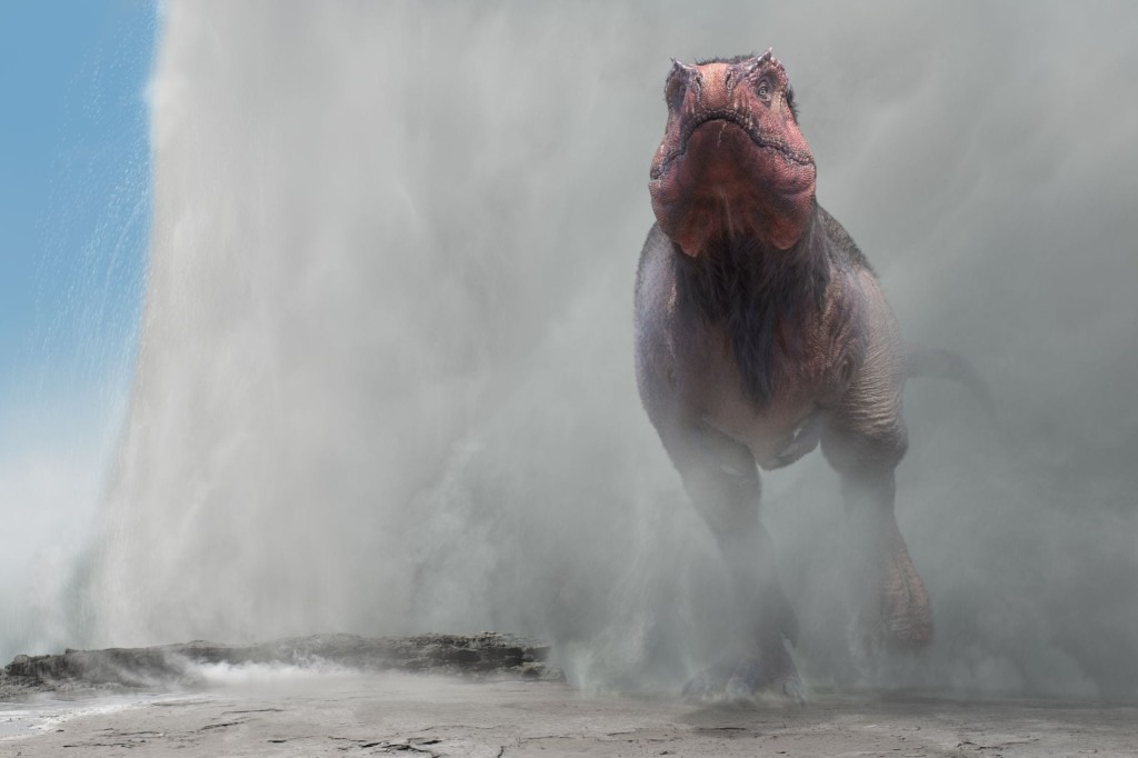 Dinosaurs in the Wild reveal a Tyrannosaurus and geyser