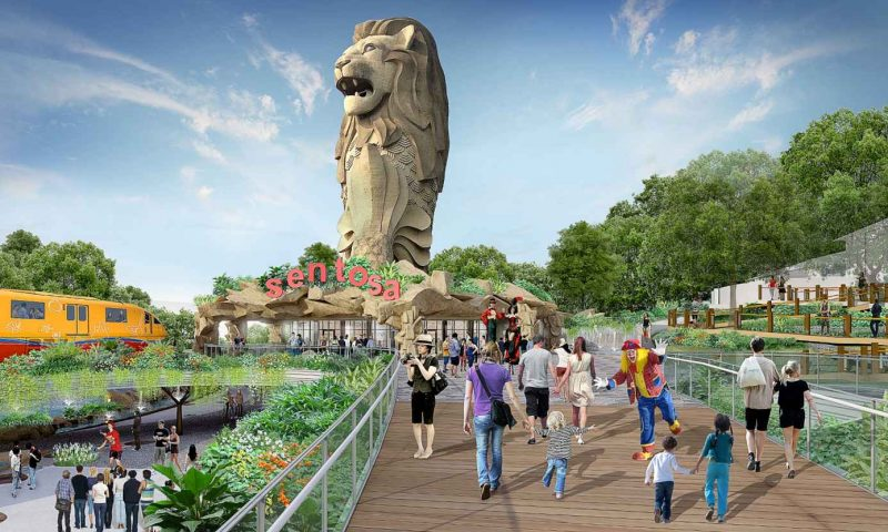 Sentosa upgrade continues: Merlion Gateway revamp, new adventure attraction on Imbiah Hill