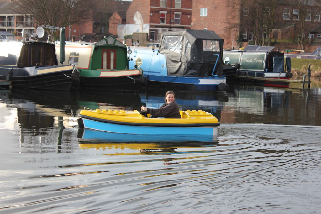 The Electric boats by Garmendale being given their first open water voyage with Captain Jess as the test pilot