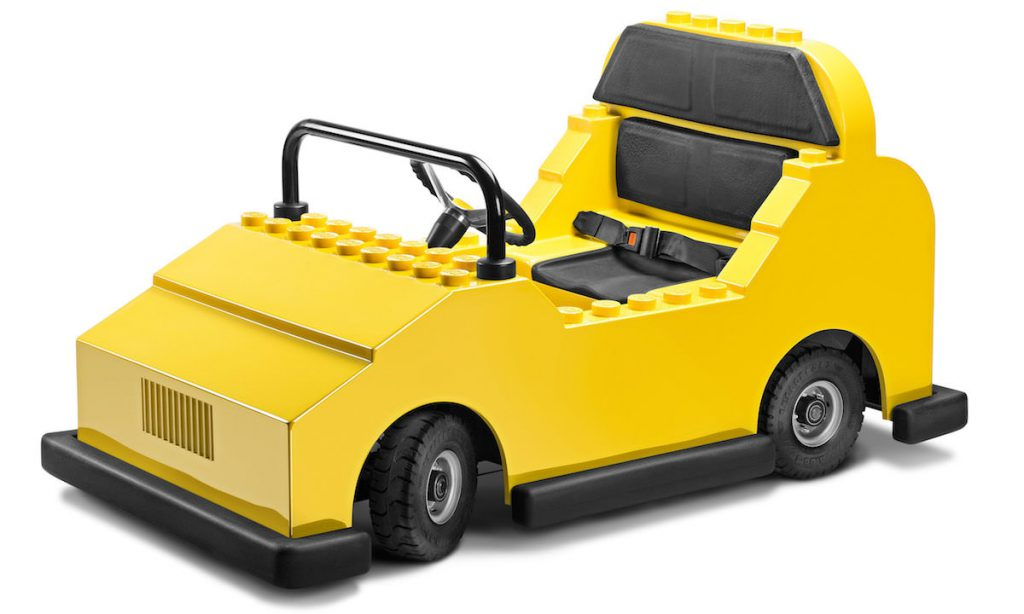 The restraints in the Garmendale electric car ensure the driver can be as young as five years old