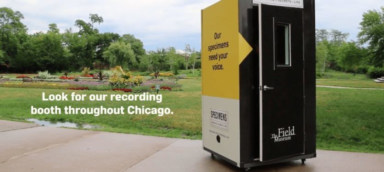 field museum specimesn with voice chicago booth